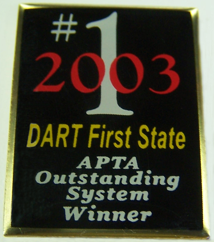 DART award lapel pin