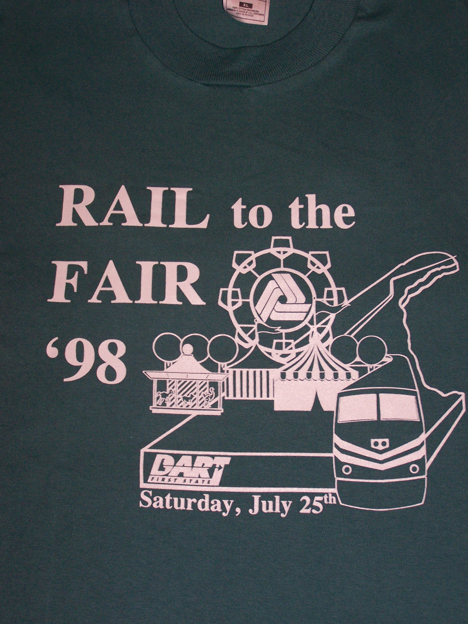 1998 Rail to the Fair tee shirt
