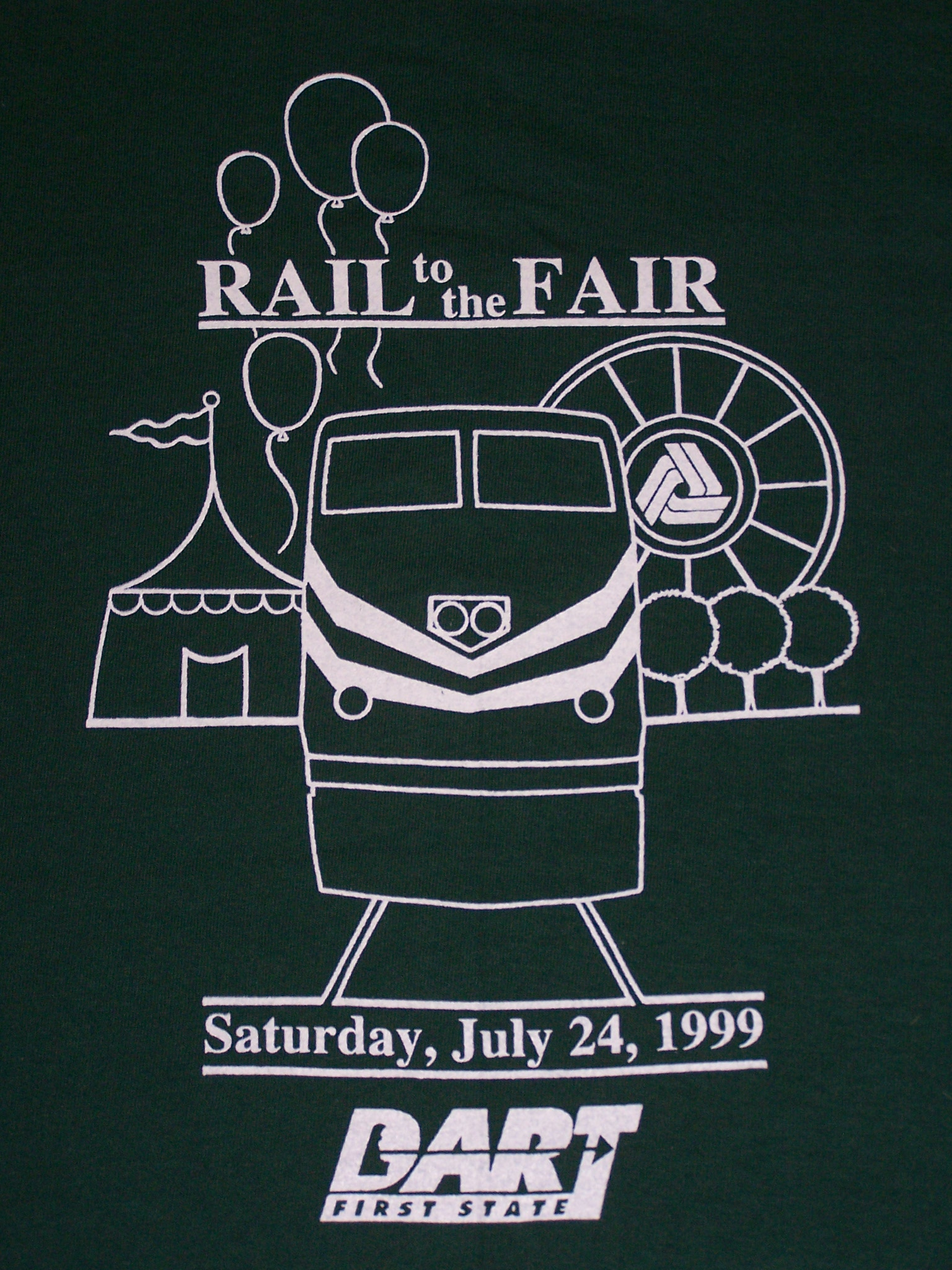 1999 Rail to the Fair tee shirt