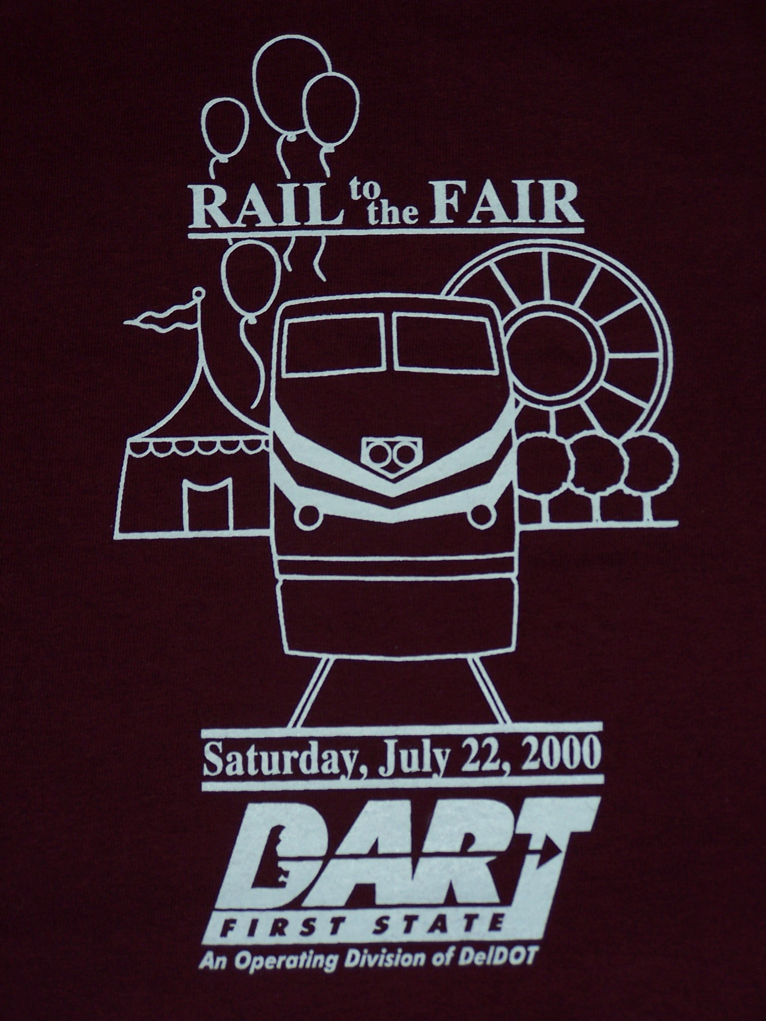 2000 Rail to the Fair tee shirt