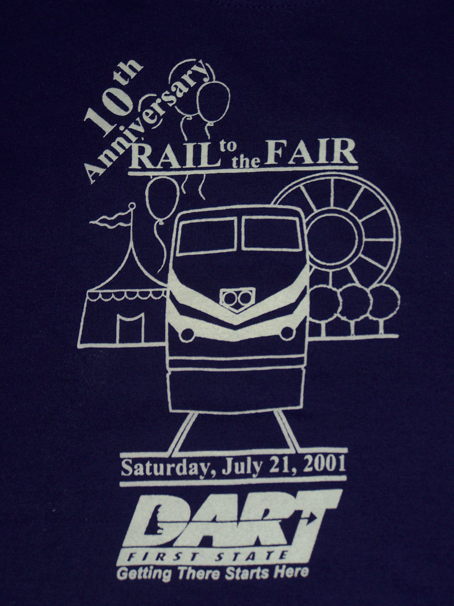 2001 Rail to the Fair tee shirt