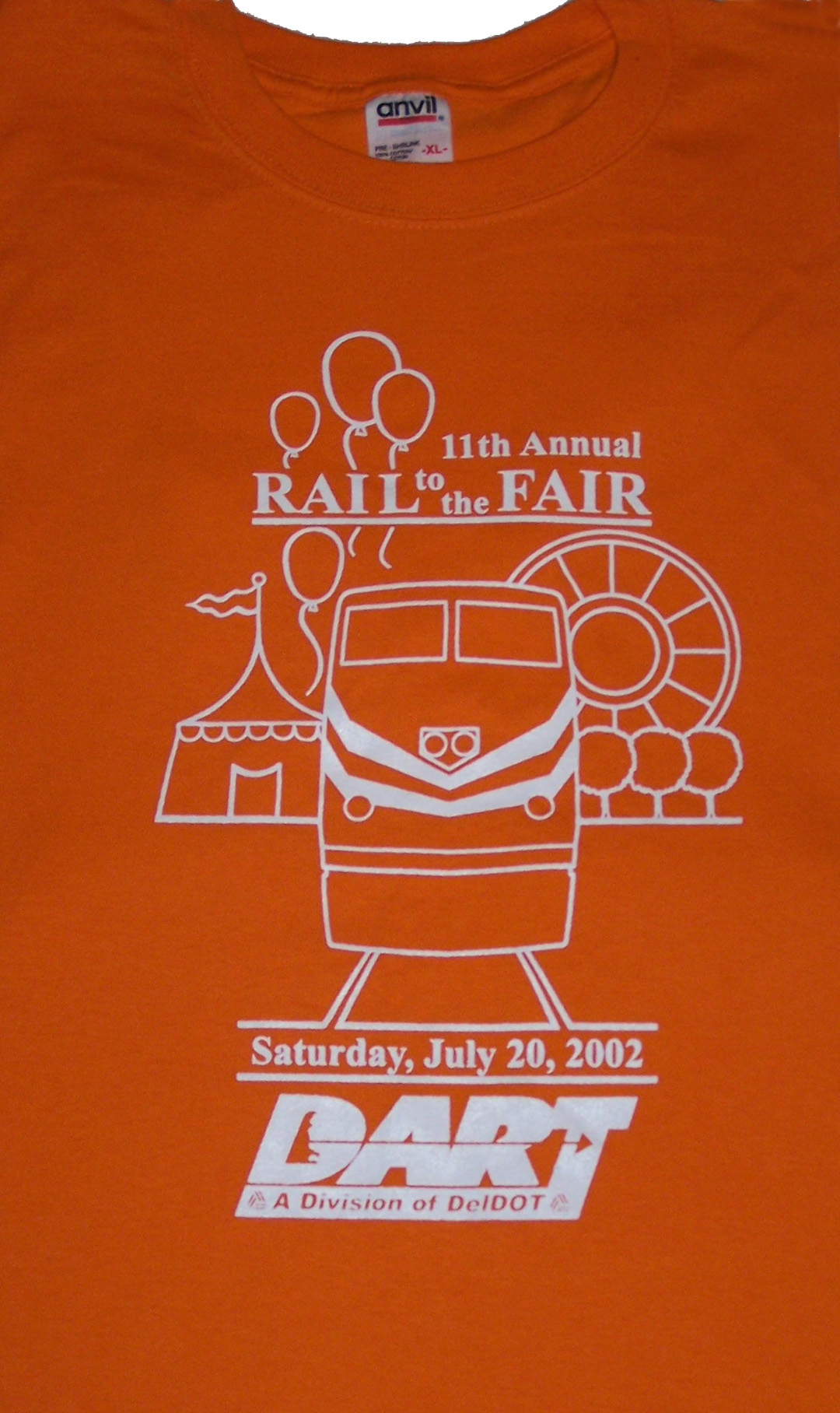 2002 Rail to the Fair tee shirt
