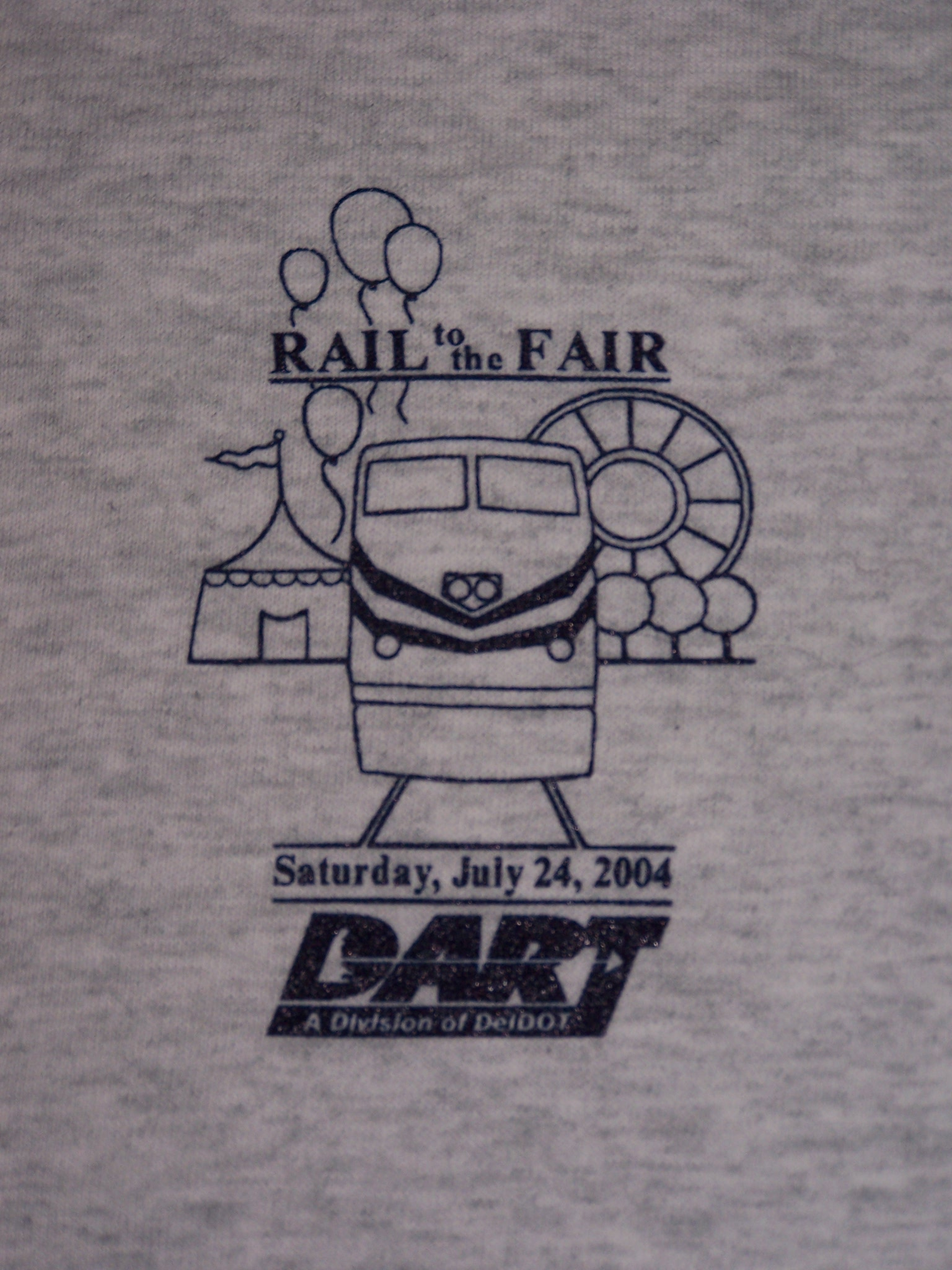 2004 Rail to the Fair tee shirt