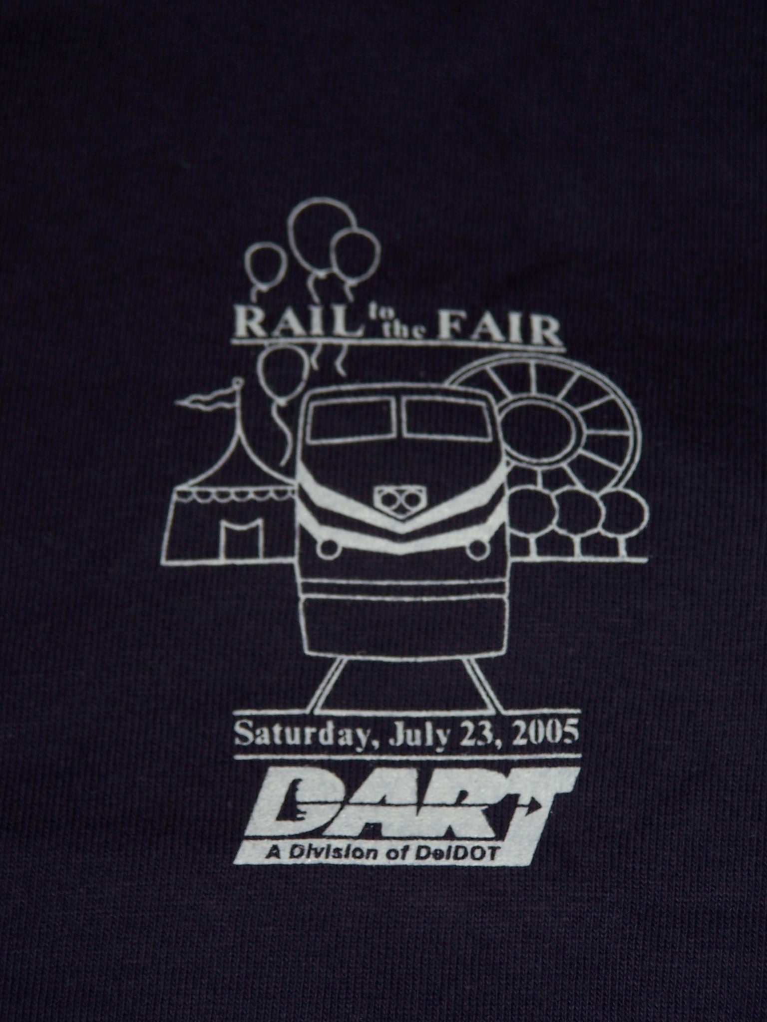 2005 Rail to the Fair tee shirt