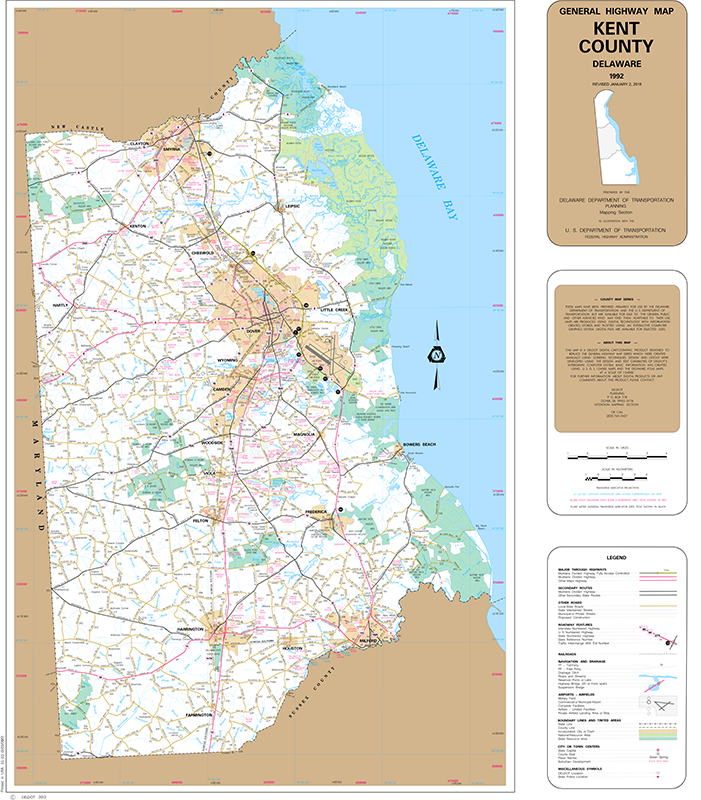 0003 kent county wall map size general highway maps