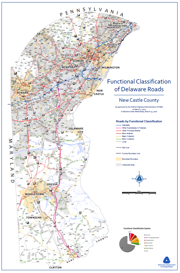 #0009 Functional Classification Maps - New Castle County