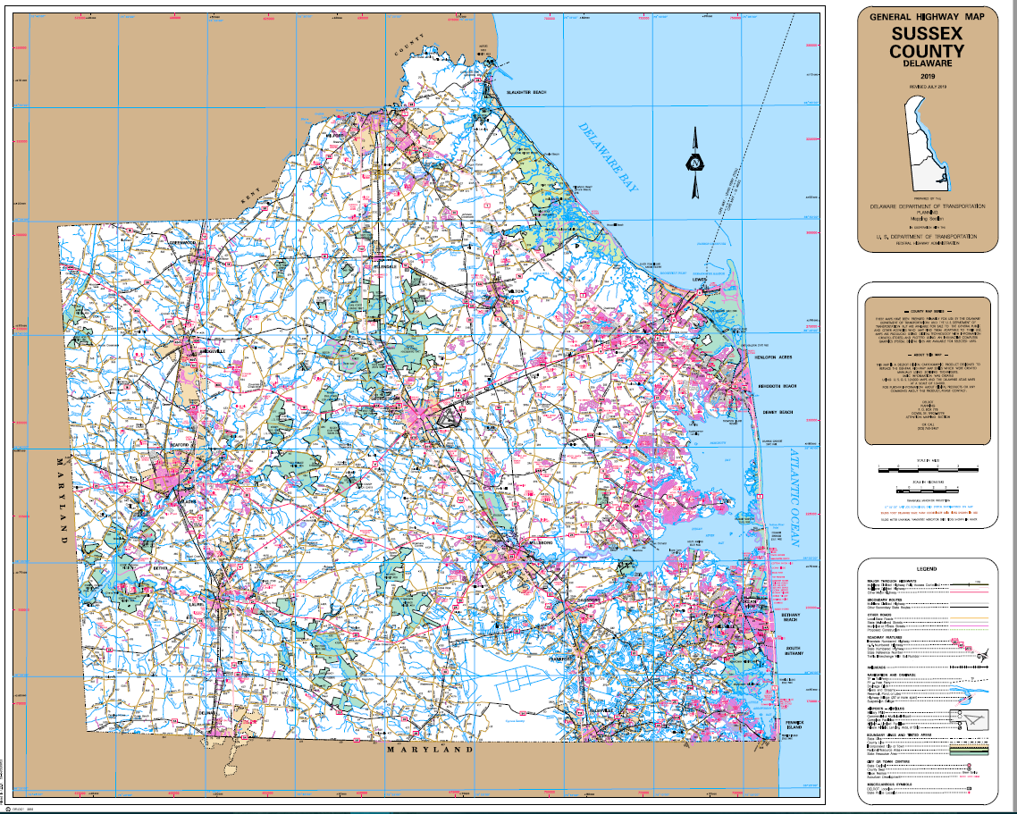 #0006 Sussex County General Highway Maps
